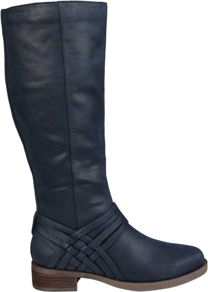 Women's Journee Collection Meg Knee High Boot, Navy Faux Suede, large, image 2