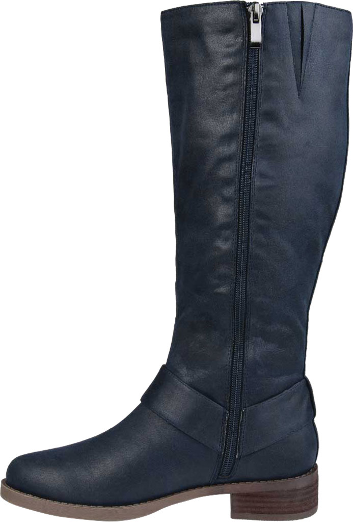 Women's Journee Collection Meg Knee High Boot, Navy Faux Suede, large, image 3