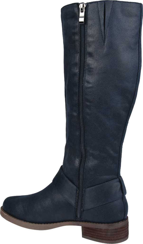 Women's Journee Collection Meg Knee High Boot, Navy Faux Suede, large, image 4