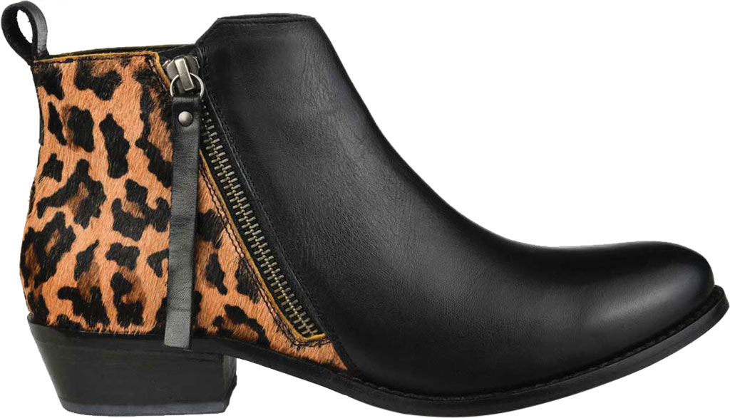 Women's Journee Collection Shalece Ankle Bootie, Black Leather, large, image 2