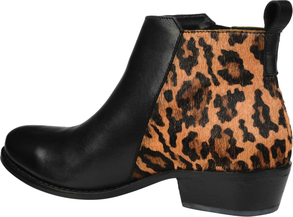 Women's Journee Collection Shalece Ankle Bootie, Black Leather, large, image 4