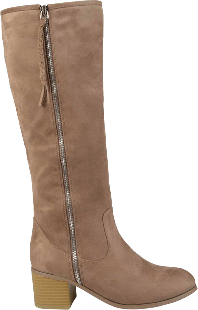 Women's Journee Collection Sanora Knee High Boot, Taupe Faux Suede, large, image 2