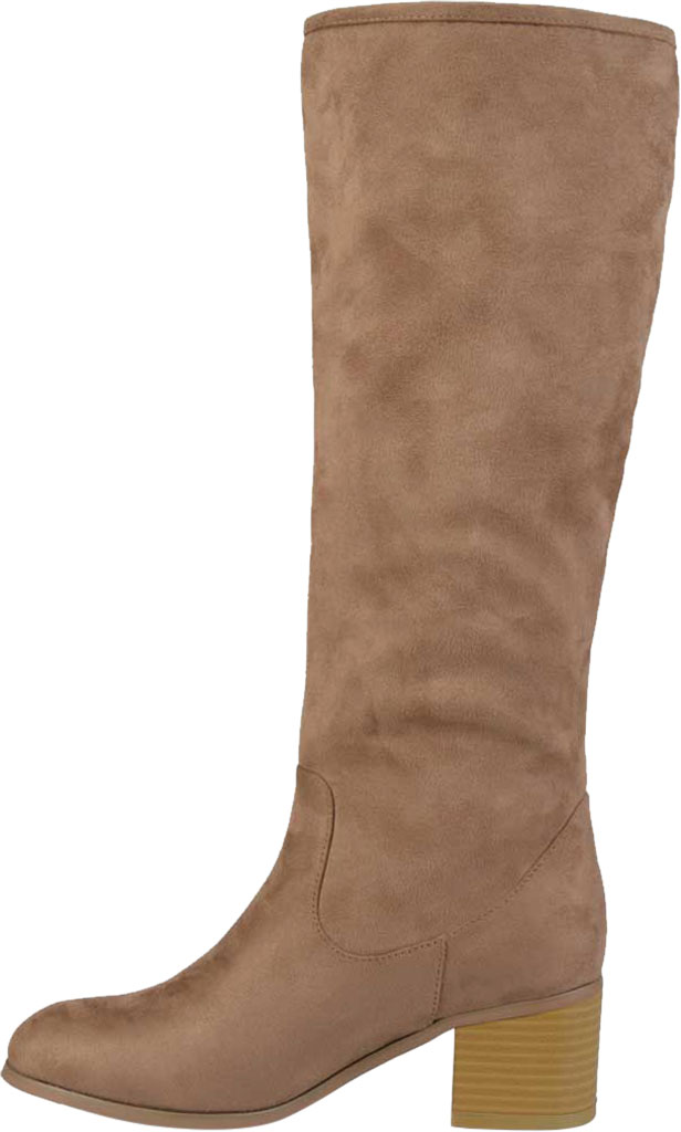 Women's Journee Collection Sanora Knee High Boot, Taupe Faux Suede, large, image 3