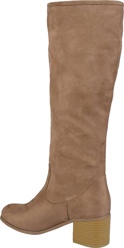 Women's Journee Collection Sanora Knee High Boot, Taupe Faux Suede, large, image 4
