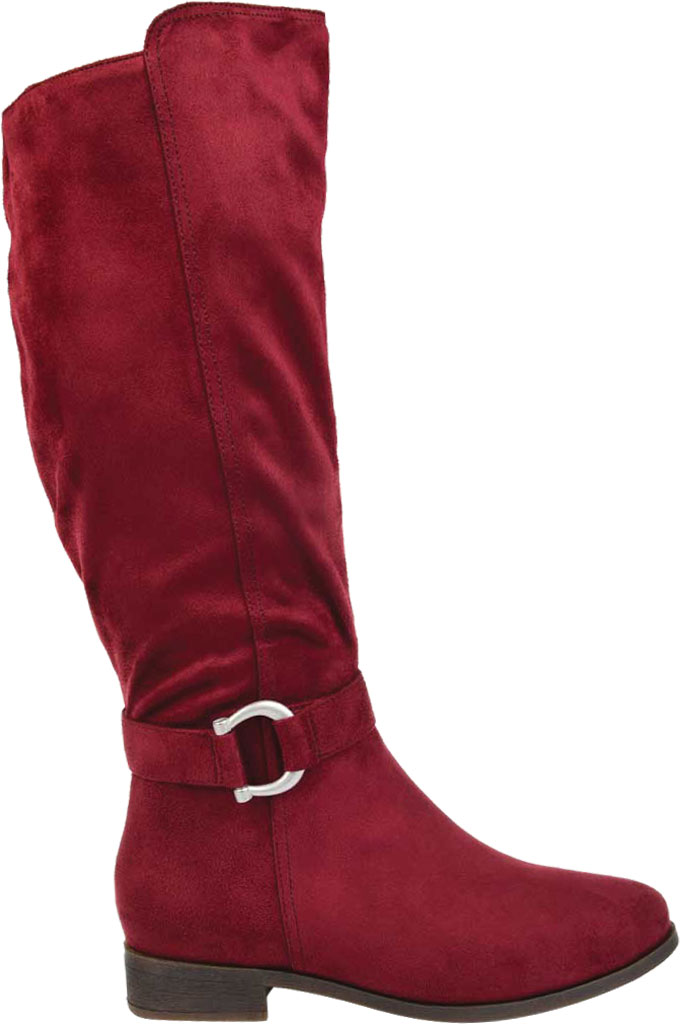 Women's Journee Collection Cate Extra Wide Calf Knee High Boot, Wine Faux Suede, large, image 2