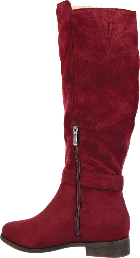 Women's Journee Collection Cate Extra Wide Calf Knee High Boot, Wine Faux Suede, large, image 4