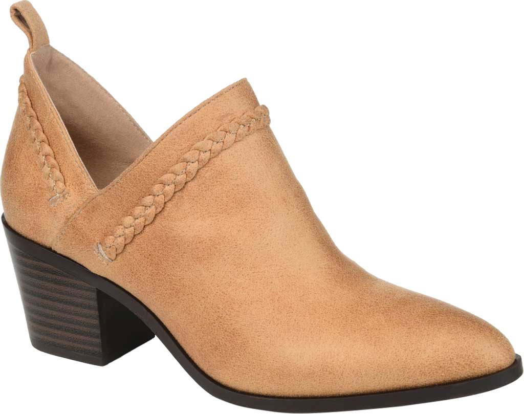 Women's Journee Collection Sophie Ankle Bootie, Tan Faux Suede, large, image 1
