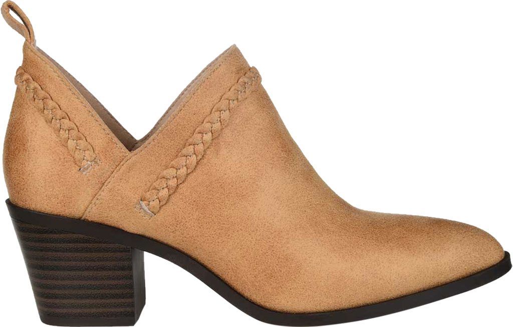 Women's Journee Collection Sophie Ankle Bootie, Tan Faux Suede, large, image 2
