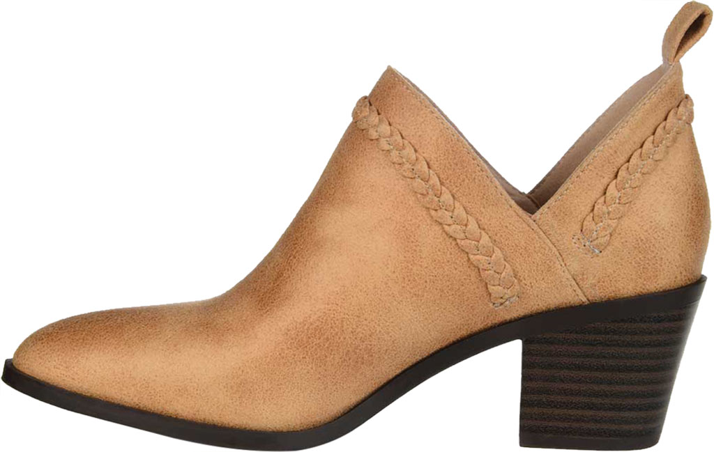 Women's Journee Collection Sophie Ankle Bootie, Tan Faux Suede, large, image 3