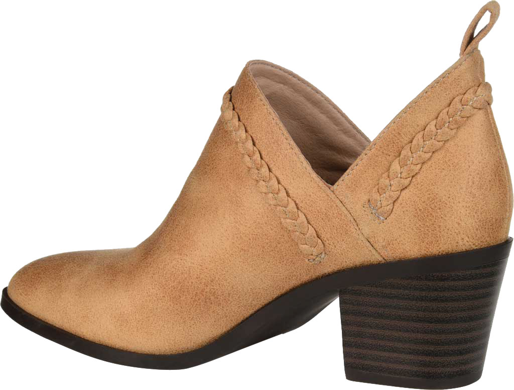 Women's Journee Collection Sophie Ankle Bootie, Tan Faux Suede, large, image 4