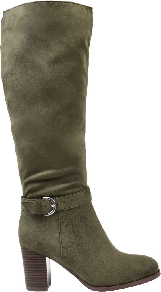 Women's Journee Collection Joelle Extra Wide Calf Knee High Boot, Olive Microsuede, large, image 2