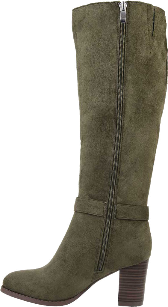 Women's Journee Collection Joelle Extra Wide Calf Knee High Boot, Olive Microsuede, large, image 3
