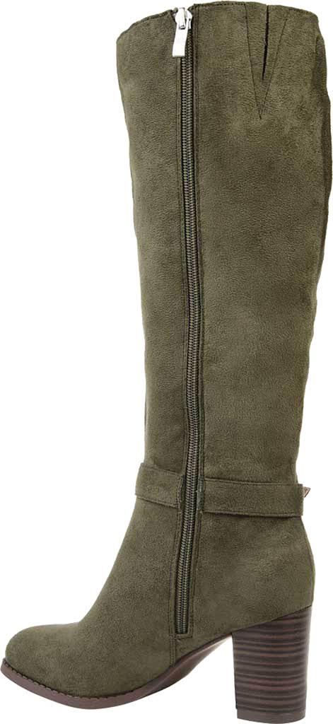 Women's Journee Collection Joelle Extra Wide Calf Knee High Boot, Olive Microsuede, large, image 4