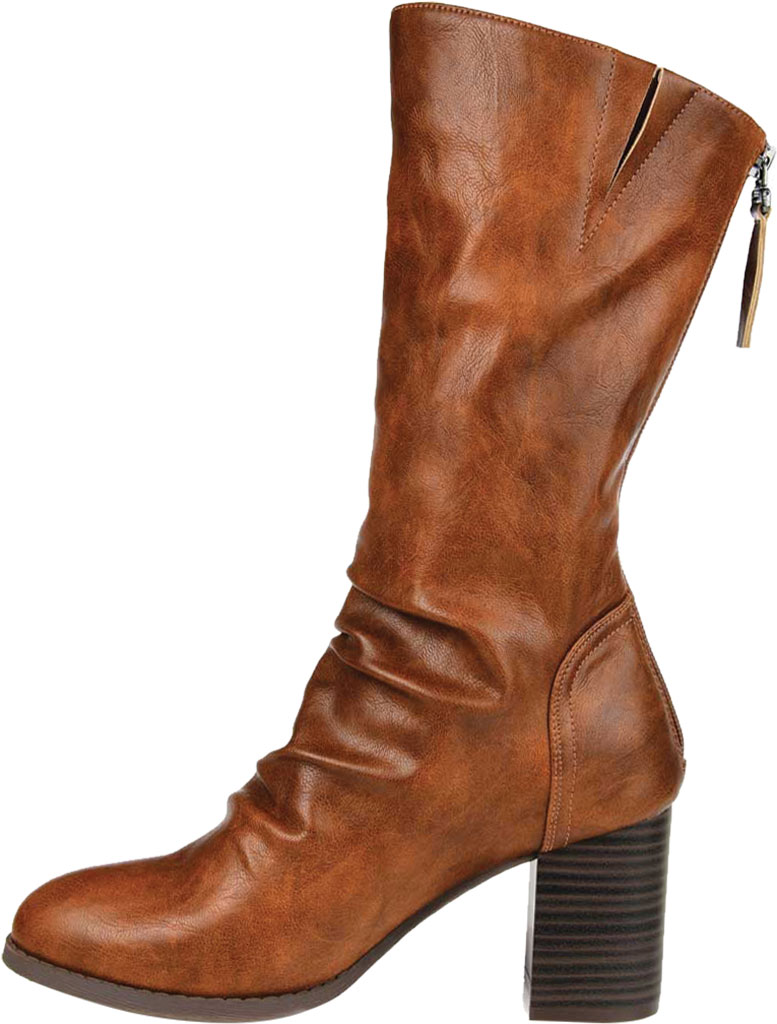 Women's Journee Collection Sequoia Mid Calf Slouch Boot, Brown Faux Leather, large, image 3