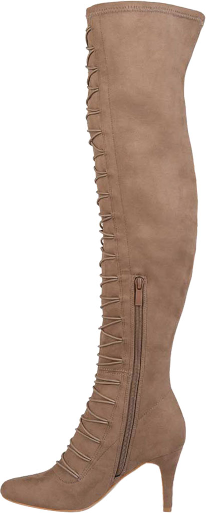 Women's Journee Collection Trill Wide Calf Over The Knee Boot, Taupe Faux Suede, large, image 3