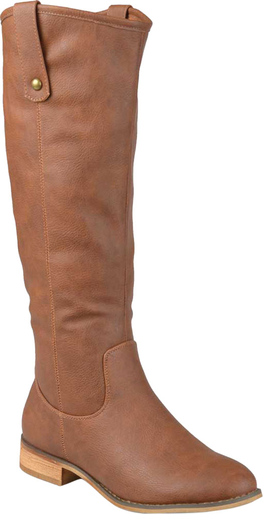 Women's Journee Collection Taven Knee High Boot, Brown Faux Leather, large, image 1