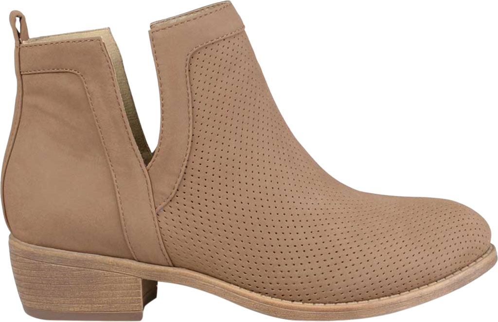 Women's Journee Collection Lainee Ankle Bootie, Taupe Faux Leather, large, image 2