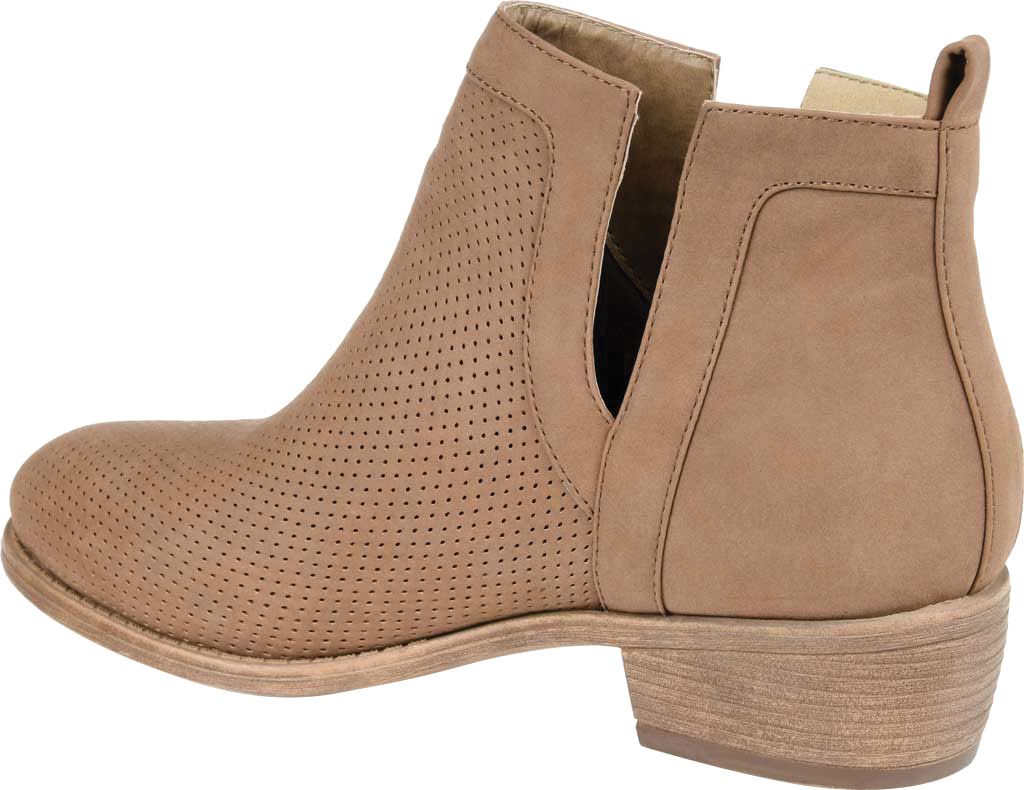 Women's Journee Collection Lainee Ankle Bootie, Taupe Faux Leather, large, image 4