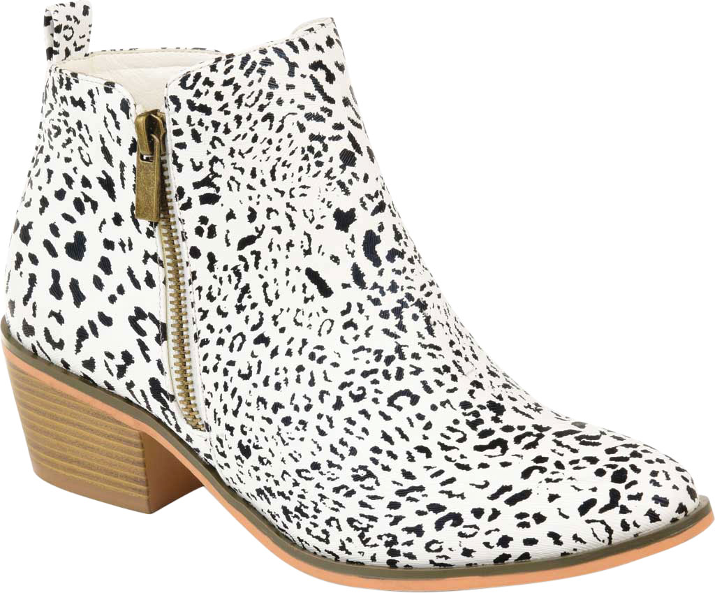 Women's Journee Collection Rebel Ankle Bootie, Animal Faux Leather, large, image 1