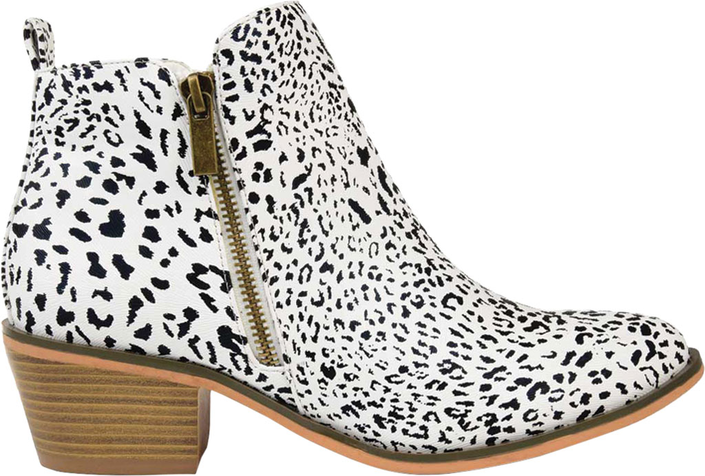 Women's Journee Collection Rebel Ankle Bootie, Animal Faux Leather, large, image 2