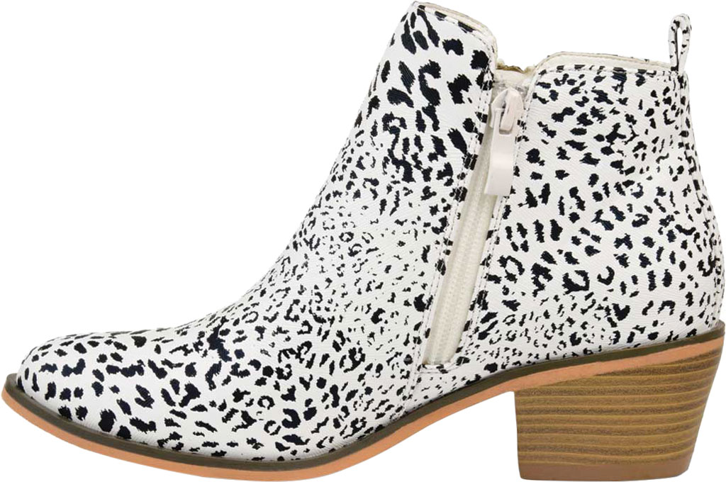 Women's Journee Collection Rebel Ankle Bootie, Animal Faux Leather, large, image 3