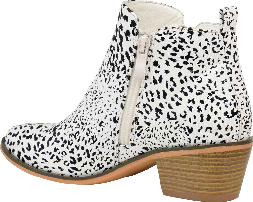Women's Journee Collection Rebel Ankle Bootie, Animal Faux Leather, large, image 4