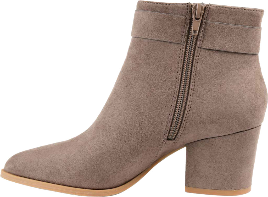 Women's Journee Collection Lavra Ankle Bootie, Taupe Microsuede, large, image 3
