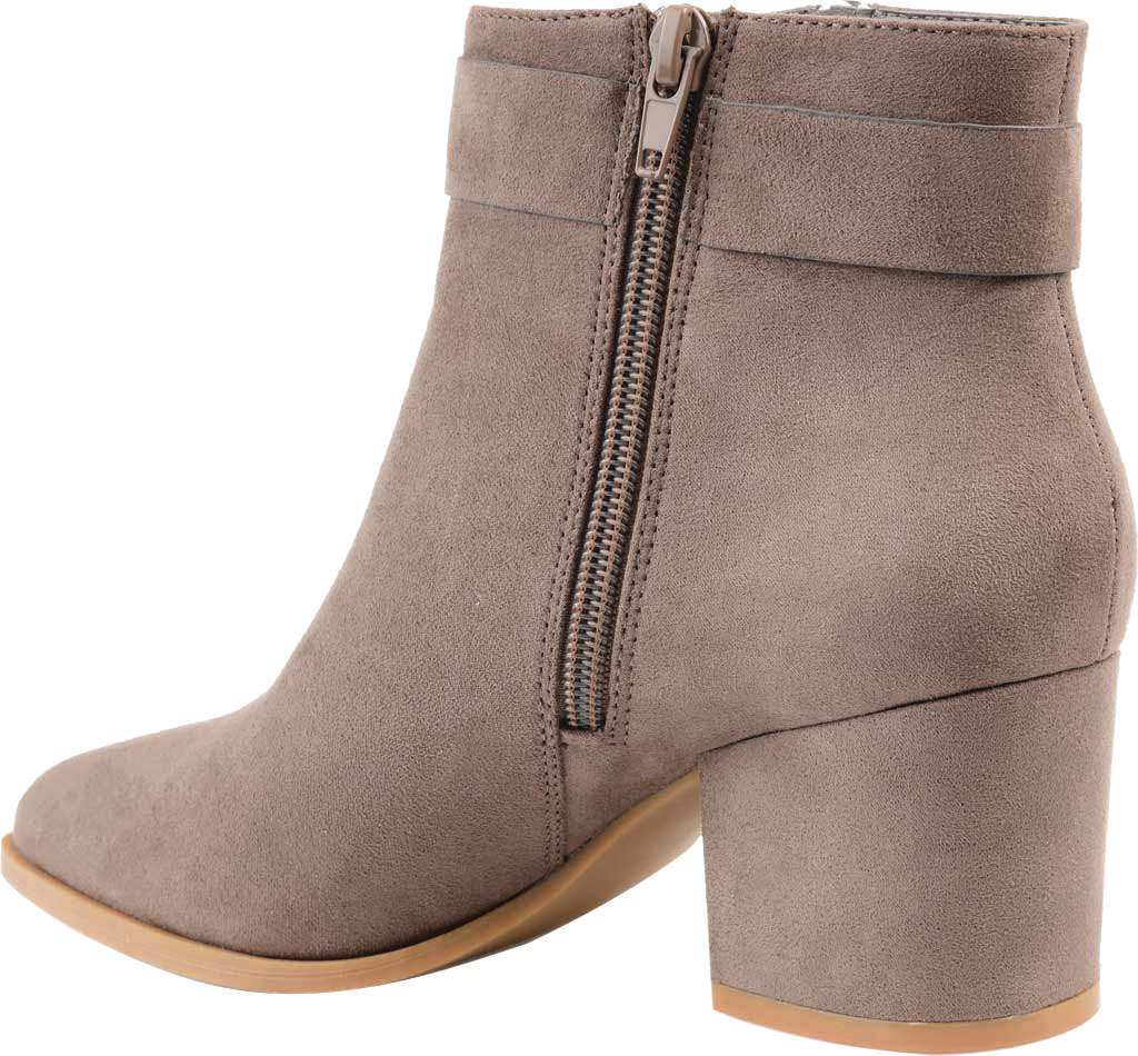 Women's Journee Collection Lavra Ankle Bootie, Taupe Microsuede, large, image 4
