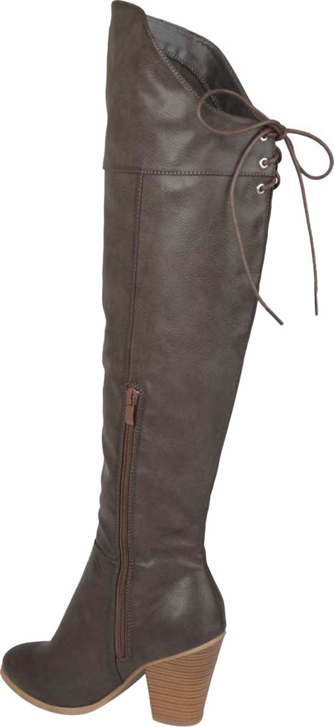 Women's Journee Collection Spritz-P Wide Calf Over The Knee Boot, Grey Faux Leather, large, image 4