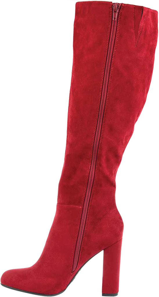 Women's Journee Collection Vivian Wide Calf Knee High Boot, Red Microsuede, large, image 3