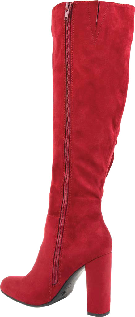 Women's Journee Collection Vivian Wide Calf Knee High Boot, Red Microsuede, large, image 4