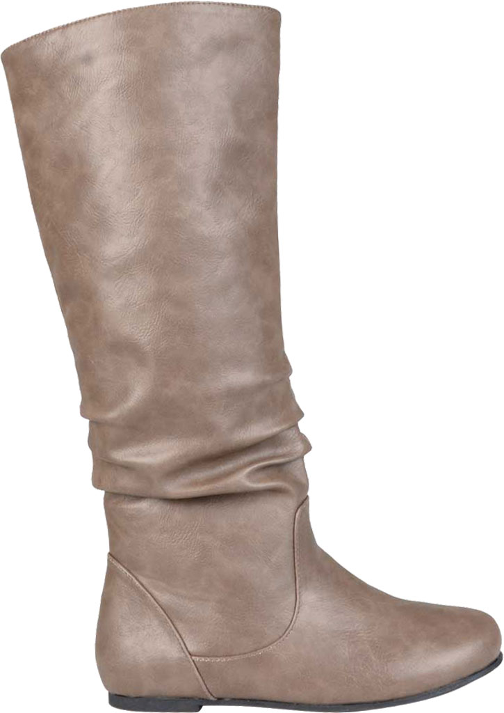 Women's Journee Collection Jayne Extra Wide Calf Knee High Slouch Boot, Taupe Faux Leather, large, image 2
