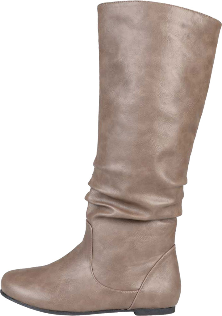 Women's Journee Collection Jayne Extra Wide Calf Knee High Slouch Boot, Taupe Faux Leather, large, image 3