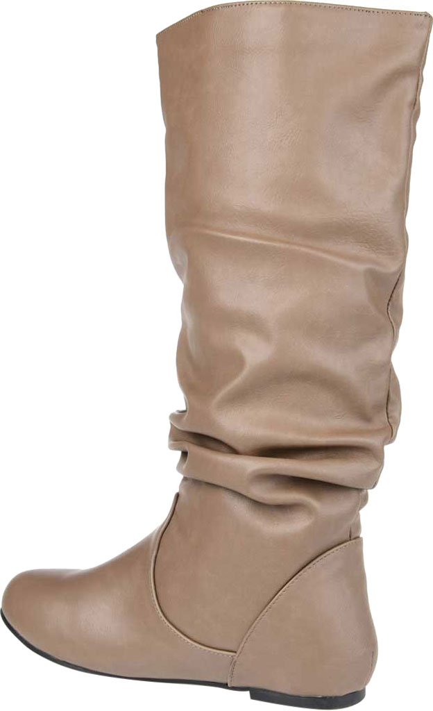 Women's Journee Collection Jayne Extra Wide Calf Knee High Slouch Boot, Taupe Faux Leather, large, image 4