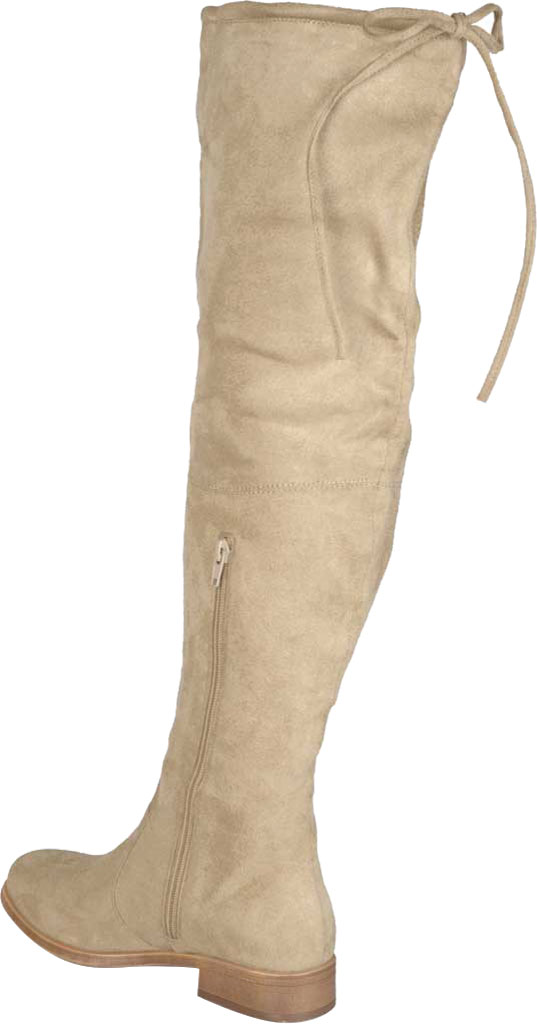 Women's Journee Collection Mount Over The Knee Boot, Taupe Faux Suede, large, image 4