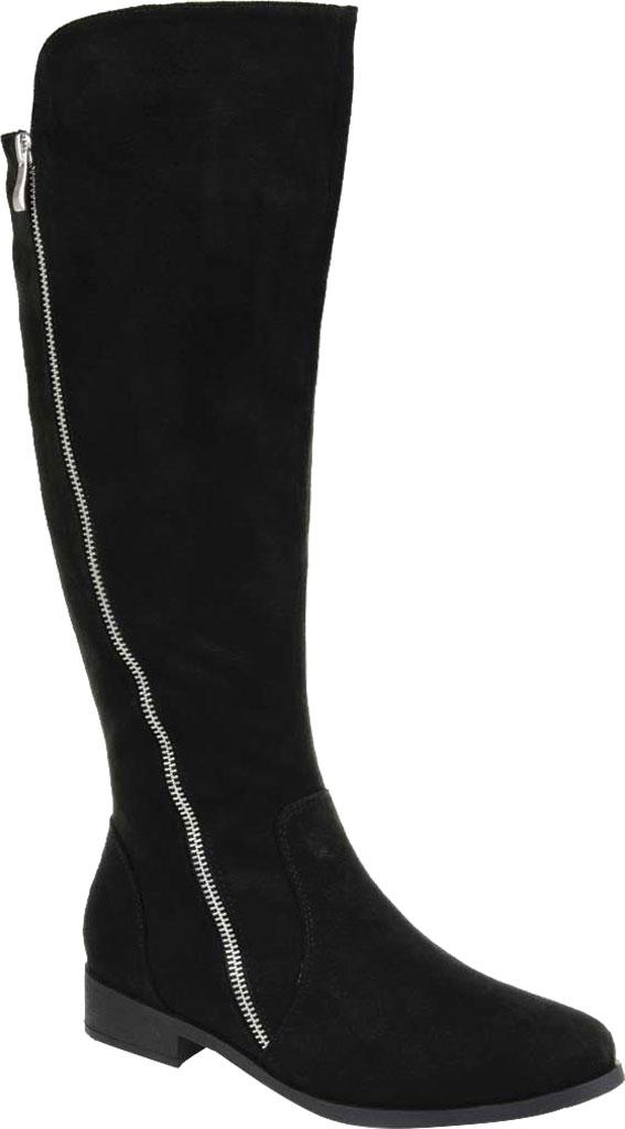 Women's Journee Collection Kerin Wide Calf Knee High Boot, Black Microsuede, large, image 1