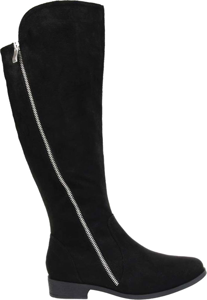 Women's Journee Collection Kerin Wide Calf Knee High Boot, Black Microsuede, large, image 2