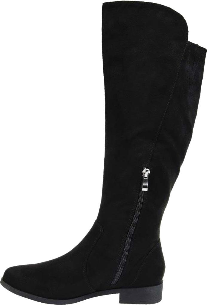 Women's Journee Collection Kerin Wide Calf Knee High Boot, Black Microsuede, large, image 3
