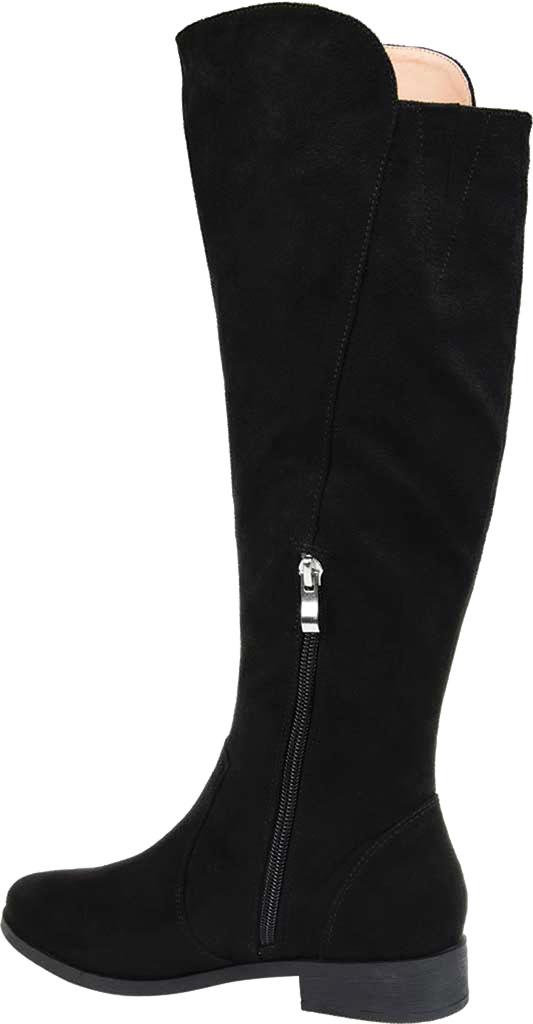 Women's Journee Collection Kerin Wide Calf Knee High Boot, Black Microsuede, large, image 4