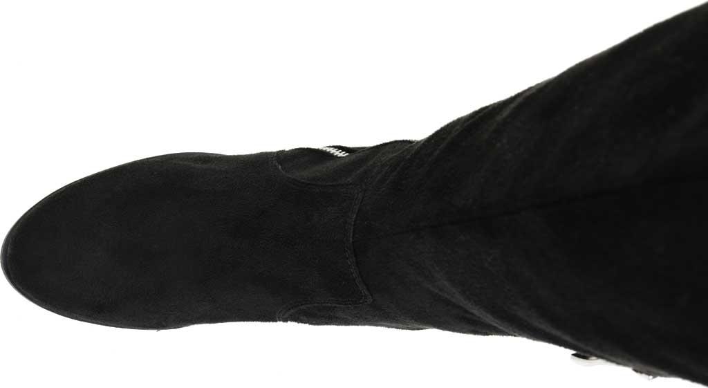 Women's Journee Collection Kerin Wide Calf Knee High Boot, Black Microsuede, large, image 5