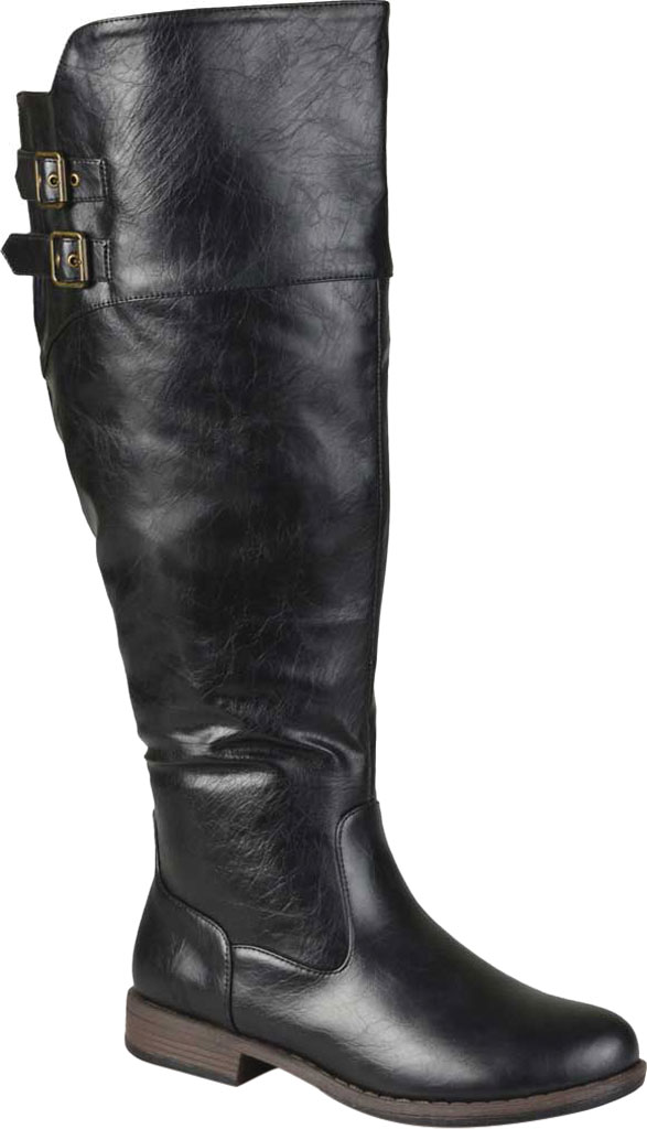 Women's Journee Collection Tori Extra Wide Calf Knee High Boot, Black Faux Leather, large, image 1