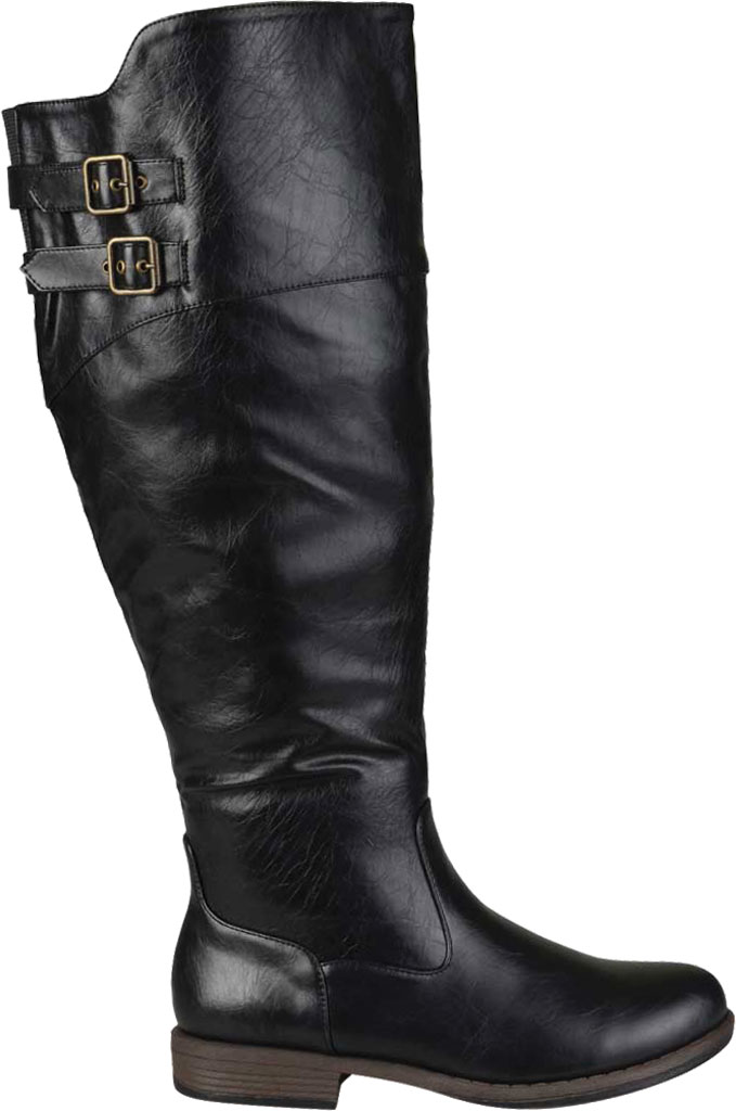 Women's Journee Collection Tori Extra Wide Calf Knee High Boot, Black Faux Leather, large, image 2