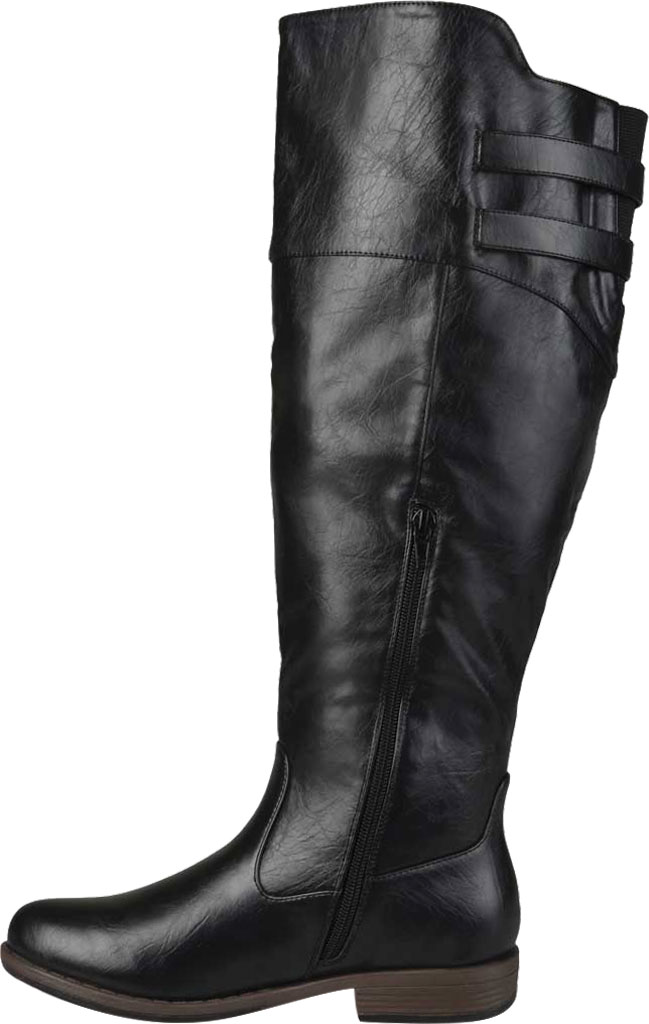 Women's Journee Collection Tori Extra Wide Calf Knee High Boot, Black Faux Leather, large, image 3