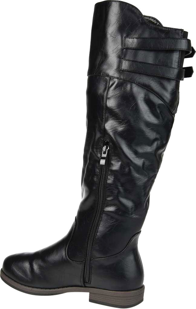 Women's Journee Collection Tori Extra Wide Calf Knee High Boot, Black Faux Leather, large, image 4