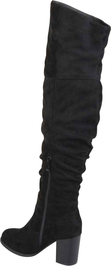 Women's Journee Collection Kaison Over The Knee Slouch Boot, Black Faux Suede, large, image 4