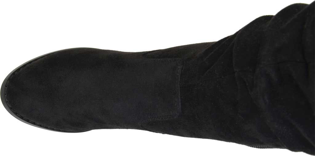 Women's Journee Collection Kaison Over The Knee Slouch Boot, Black Faux Suede, large, image 5