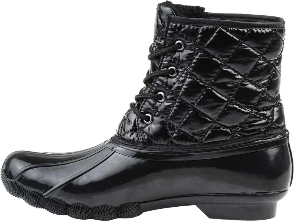 Women's Journee Collection Chill Quilted Waterproof Duck Boot, Black Quilted Manmade, large, image 3