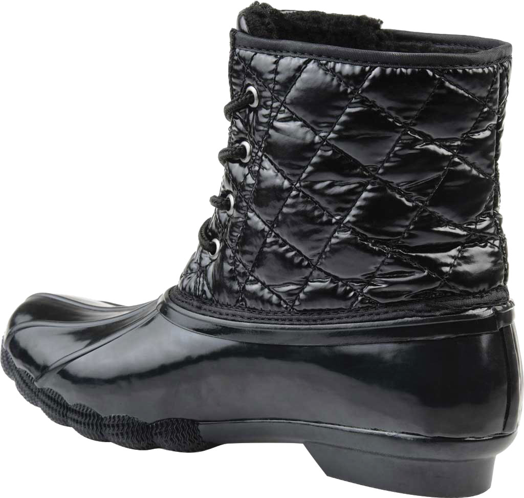 Women's Journee Collection Chill Quilted Waterproof Duck Boot, Black Quilted Manmade, large, image 4