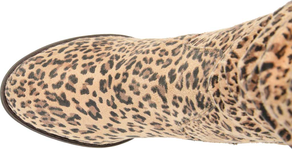 Women's Journee Collection Aneil Knee High Slouch Boot, Leopard Faux Suede, large, image 5