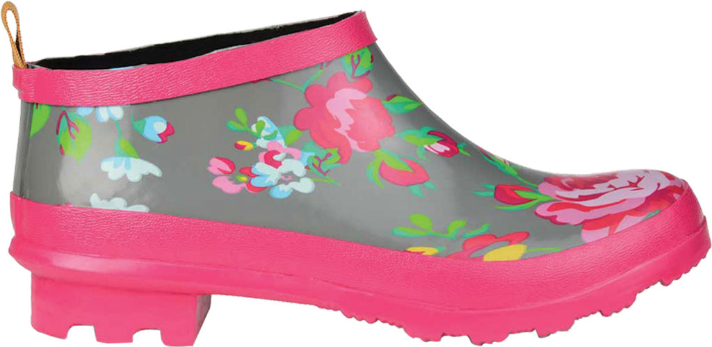 Women's Journee Collection Rainer Rain Boot, Grey Floral Rubber, large, image 2